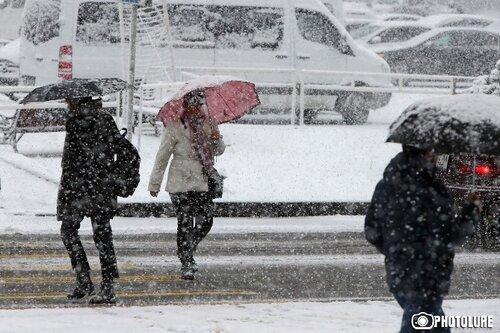 В Ереване и по всей Армении ожидается снегопад