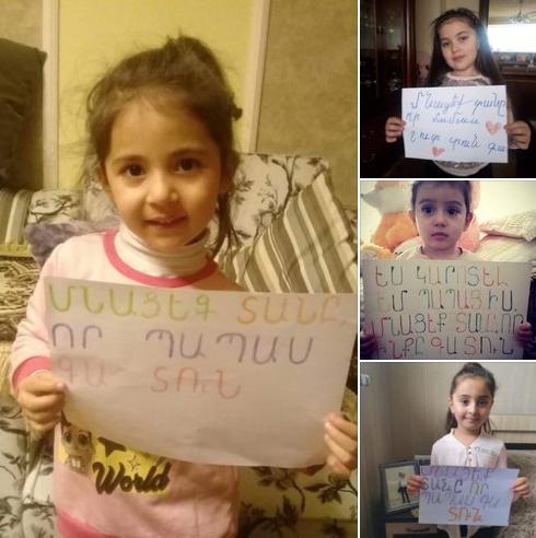 «Сидите дома, чтобы мой папа вернулся домой»: дети армянских врачей обратились к народу