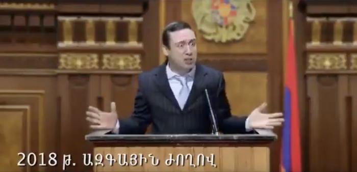 Айк Марутян в ситкоме «Каргин сериал» становился депутатом в 2018 году: в итоге он станет мэром Еревана. ВИДЕО
