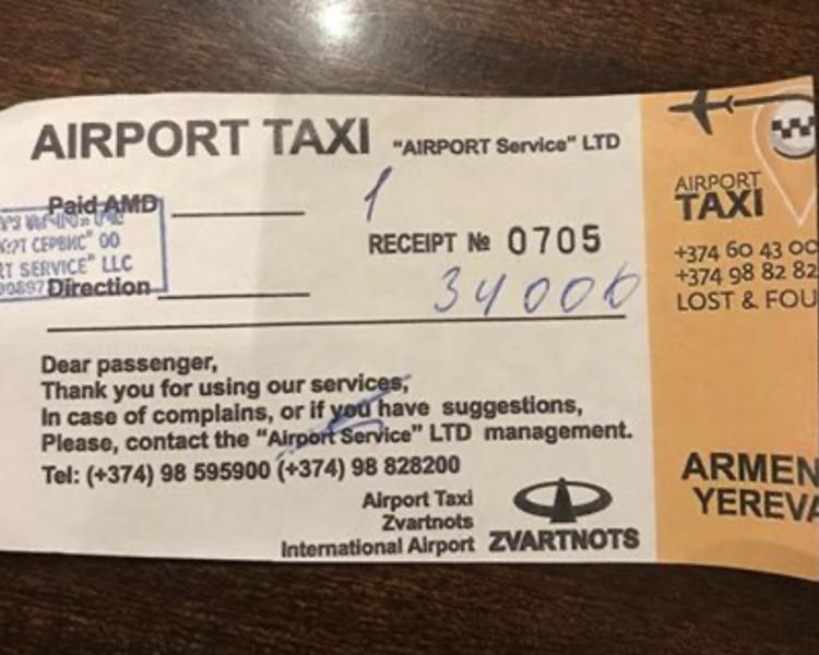 Недобросовестные таксисты в аэропорту «грабят» туристов: как доехать из «Звартноц» до центра Еревана за 34 000 драмов