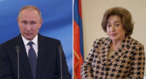 Путин в российском посольстве встретился с Беллой Кочарян: кочаряновские СМИ визжат от восторга
