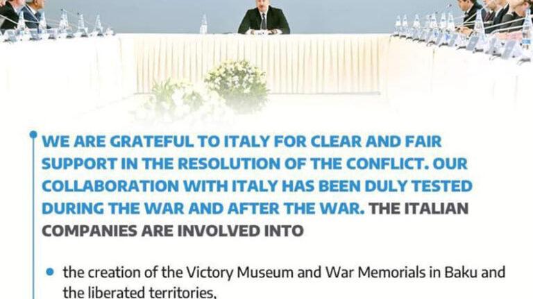 Իտալական ընկերությունը հերքել է մասնակցությունն Ադրբեջանի ռազմավարի այգու նախագծին