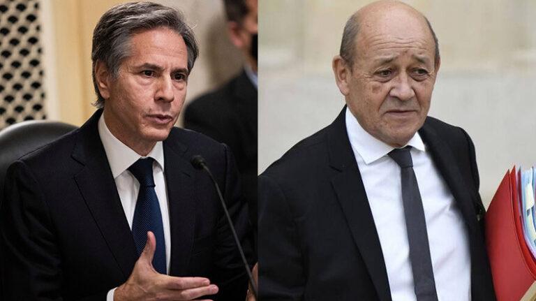 ԱՄՆ պետքարտուղարն ու Ֆրանսիայի ԱԳ նախարարը քննարկել են Արցախի հարցը․ՖՈՏՈ
