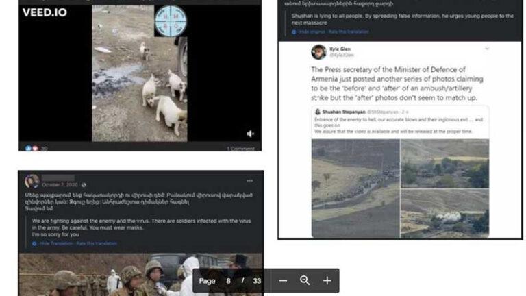 «Ֆեյսբուքը հեռացրել է Ադրբեջանի հետ կապված ֆեյք էջեր, որոնք նաև հայերեն ապատեղեկատվություն են տարածել պատերազմի օրերին»․ՖՈՏՈՆԵՐ
