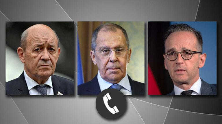 ՌԴ, Ֆրանսիայի, Գերմանիայի ԱԳ նախարարները քննարկել են Լեռնային Ղարաբաղի հարցը